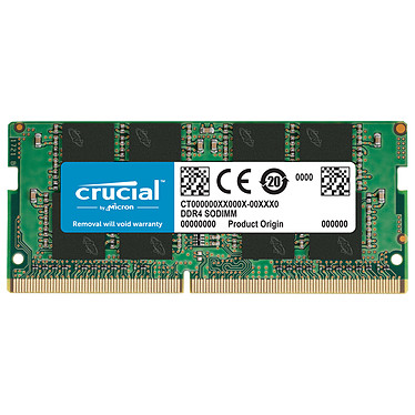 Crucial SO-DIMM DDR4 16 Go 3200 MHz CL22 RAM DDR4 PC4-25600 - CT16G4SFRA32A