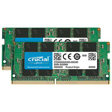 Crucial SO-DIMM DDR4 16 Go (2 x 8 Go) 2666 MHz CL19 Kit Dual Channel RAM DDR4 PC4-21300 - CT2K8G4SFRA266