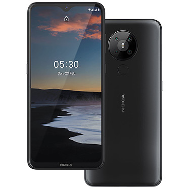 "Nokia 5.3 Gris Smartphone 4G-LTE Dual SIM - Snapdragon 665 Octo-core 2.0 GHz - RAM 3 Go - Ecran tactile 6.55"" 720 x 1600 - 64 Go - NFC/Bluetooth 4.2 - 4000 mAh - Android 10"