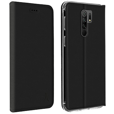 Akashi Etui Folio Porte Carte Noir Xiaomi Redmi 9