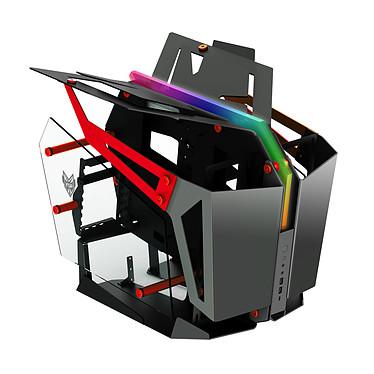 FSP T-Wings Red Caja PCTorre mediana Dual-Configuration de aluminio y vidrio templado