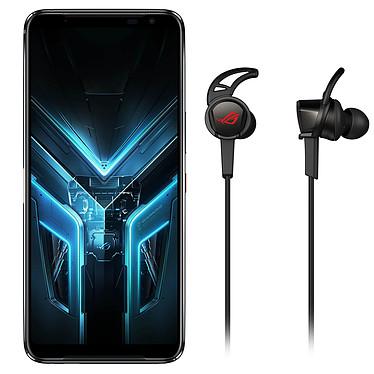 "ASUS ROG Phone 3 Noir (12 Go / 512 Go) + ROG Cetra Core Smartphone 5G-LTE Dual SIM - Snapdragon S865 Plus 8-Core 3.1 GHz - RAM 12 Go - Ecran tactile AMOLED 6.59"" 1080 x 2340 - 512 Go - NFC/Bluetooth 5.1 - 6000 mAh - Android 10 + Écouteurs gaming"