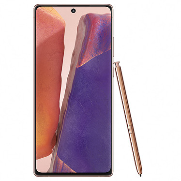 "Samsung Galaxy Note 20 4G SM-N980 Bronce (8GB / 256GB) Smartphone 4G-LTE Advanced IP68 Dual SIM - Exynos 990 8-Core 2.73 Ghz - 8 GB RAM - Super AMOLED 6.7"" 1080 x 2400 Pantalla táctil - 256 GB - NFC/Bluetooth 5.0 - 4300 mAh - Android 10"