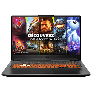 "ASUS A17-TUF706IU-H7154T AMD Ryzen 7 4800H 16 Go SSD 512 Go 17.3"" LED Full HD 120 Hz NVIDIA GeForce GTX 1660 Ti 6 Go Wi-Fi AC/Bluetooth Windows 10 Famille 64 bits"