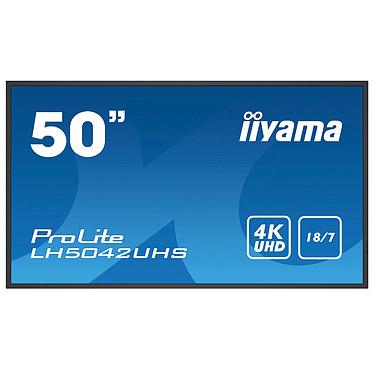 "iiyama 49.5"" LED - ProLite LH5042UHS-B1 3840 x 2160 pixels 16:9 - VA - 4000:1 - 500 cd/m² - 8 ms - Android OS - HDMI/VGA/DVI - Ethernet - Haut-parleurs intégrés - 18/7 - Noir"