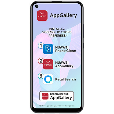 "Huawei P40 Lite E Noir Smartphone 4G-LTE Dual SIM - Kirin 710F Octo-Core 2.2 GHz - RAM 4 Go - Ecran tactile 6.39"" 720 x 1560 - 64 Go - Bluetooth 5.0 - 4000 mAh - Android 9"