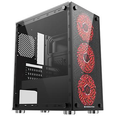 Xigmatek Nyx 3F Red Edition Mini caja PC con frente y ventana en vidrio templado y 3 ventiladores 120 mm RGB