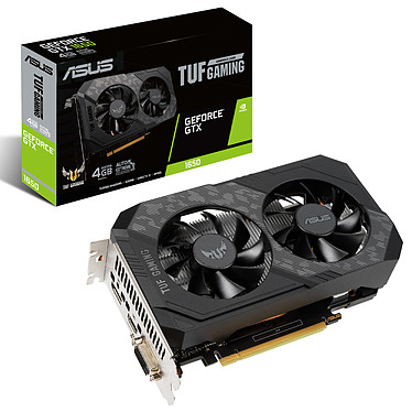 ASUS GeForce GTX 1650 TUF-GTX1650-4GD6-P-GAMING 4 Go GDDR6 - HDMI/DisplayPort/DVI - PCI Express (NVIDIA GeForce GTX 1650)