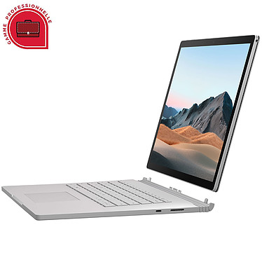 "Microsoft Surface Book 3 13.5"" for Business - i7-1065G7 - 16 Go - 256 Go Intel Core i7-1065G7 16 Go SSD 256 Go 13.5"" LED Tactile NVIDIA GeForce GTX 1650 4 Go Wi-Fi AX/Bluetooth Webcam Windows 10 Professionnel 64 bits"