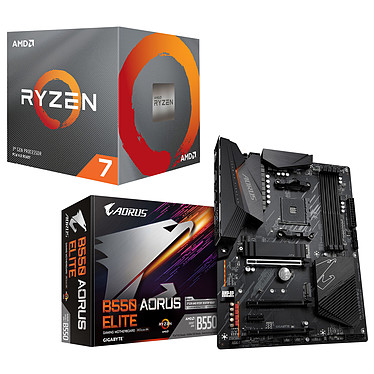 Kit Upgrade PC AMD Ryzen 7 3700X Gigabyte B550 AORUS ELITE Placa base Socket AM4 AMD B550 AMD Ryzen 7 3700X Wraith Prism LED RGB (3.6 GHz / 4.4 GHz)