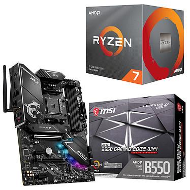 Kit Upgrade PC AMD Ryzen 7 3700X MSI MPG B550 GAMING EDGE WIFI Carte mère Socket AM4 AMD B550 + AMD Ryzen 7 3700X Wraith Prism LED RGB (3.6 GHz / 4.4 GHz)