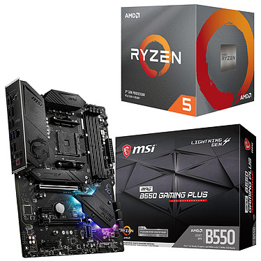 Kit Upgrade PC AMD Ryzen 5 3600X MSI MPG B550 GAMING PLUS Placa base Socket AM4 AMD B550 AMD Ryzen 5 3600X Wraith Spire (3.8 GHz / 4.4 GHz)