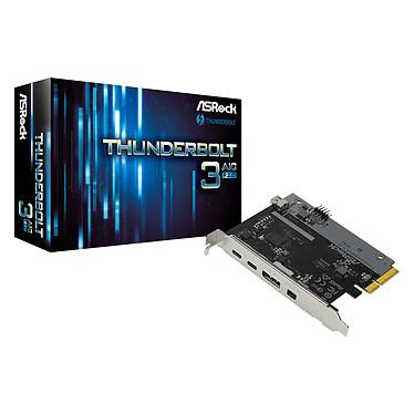 ASRock Thunderbolt 3 AIC R2.0 Tarjeta Controladora Thunderbolt 3 40 Gb/s compatible con DisplayPort, 4K/5K y Power Delivery 36W 12V-3A - PCI-Express 3.0 4x Bus