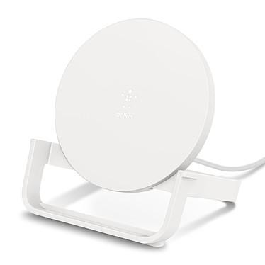 Belkin Chargeur à induction Boost Charge Stand 10 W avec adaptateur secteur (Blanc) Chargeur à induction Stand Qi 10W pour smartphones compatibles Qi avec adaptateur secteur - Blanc