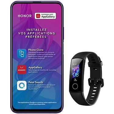 """Honor 9X Pro + Band 5 Smartphone 4G-LTE Dual SIM - Kirin 810 8-Core 2.27 GHz - RAM 6 Go - Ecran tactile 6.59"""" 1080 x 2340 - 256 Go - Bluetooth 5.0 - 4000 mAh - Android 9.0 + Bracelet connecté - étanche 50m - écran couleur AMOLED de 0.95"""" - résolution 120 x 240 pixels - Bluetooth 4.2 - 100 mAh - iOS/Android"""
