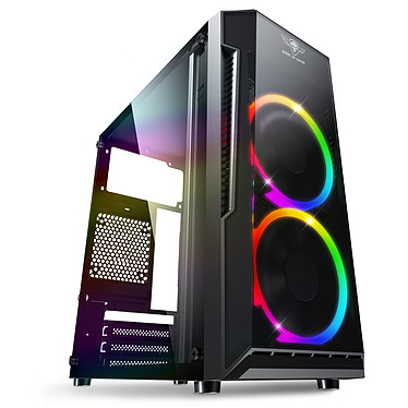 Spirit of Gamer Deathmatch 3 Edición ARGB Caja PC mini torre negra con ventana y retroiluminación ARGB