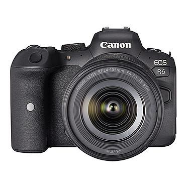 "Canon EOS R6 + RF 24-105mm f/4-7.1 IS STM Appareil photo hybride plein format 20.1 MP - Vidéo 4K 60p - AF CMOS Dual Pixel II - Ecran LCD tactile orientable 3"" - Wi-Fi/Bluetooth + Objectif RF 24-105mm f/4-7.1 IS STM"