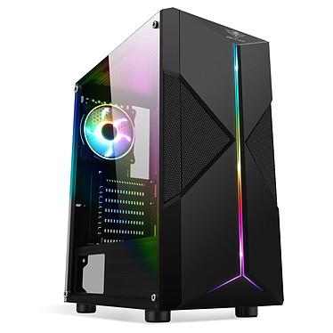 Spirit of Gamer Clone 3 ARGB Edition Caja PC torre mediana negra con ventana y retroiluminación ARGB