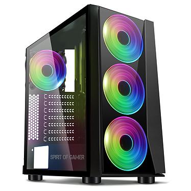 Spirit of Gamer Ghost 3 ARGB Edition Caja torre mediana negra con ventana y retroiluminación ARGB
