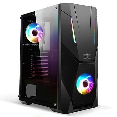 Spirit of Gamer Rogue 5 Edición ARGB Caja torre mediana negra con ventana de vidrio templado y retroiluminación ARGB