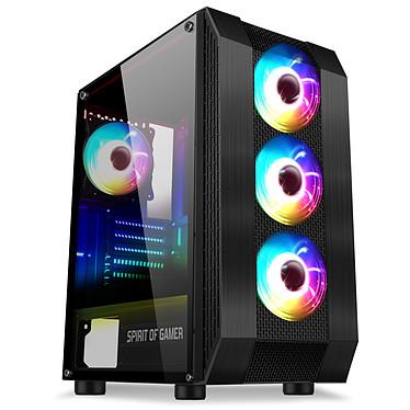 Spirit of Gamer Rogue 6 Edición ARGB Caja torre mediana negra con ventana de vidrio templado y retroiluminación ARGB