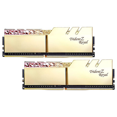 G.Skill Trident Z Royal 32 GB (2 x 16 GB) DDR4 4000 MHz CL17 - Oro Kit Dual-Channel 2 modulos de RAM DDR4 PC4-32000 - F4-4000C17D-32GTRGB con LEDs RGB