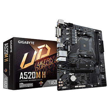 Gigabyte A520M H Placa base Micro ATX Socket AM4 AMD A520 - 2 x DDR4 - SATA 6Gb/s M.2 - USB 3.0 - PCI-Express 3.0 16x