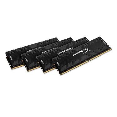 HyperX Predator Noir 128 Go (4 x 32 Go) DDR4 3000 MHz CL16 Kit Quad Channel 4 barrettes de RAM DDR4 PC4-24000 - HX430C16PB3K4/128