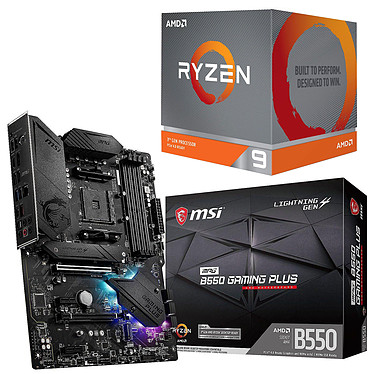 Kit Upgrade PC AMD Ryzen 9 3950X MSI MPG B550 GAMING PLUS Placa base Socket AM4 AMD B550 AMD Ryzen 9 3950X (3.5 GHz / 4.7 GHz)