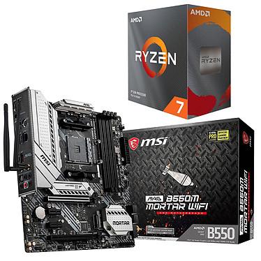 Kit Upgrade PC AMD Ryzen 7 3800XT MSI MAG B550M MORTAR WIFI Placa base Socket AM4 AMD B550 AMD Ryzen 7 3800XT (3,9 GHz / 4,7 GHz)
