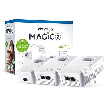 devolo Magic 2 WiFi next - Kit Multiroom Pack de 3 adaptateurs CPL 2400 Mbps (1x devolo MAGIC 2 LAN + 2x devolo MAGIC 2 WiFi next) - Wi-Fi Mesh - MU-MIMO - Norme G.hn