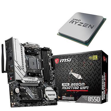 Kit Upgrade PC AMD Ryzen 9 3900 MSI MAG B550M MORTAR WIFI Placa base Socket AM4 AMD B550 AMD Ryzen 9 3900 (3,1 GHz / 4,3 GHz)