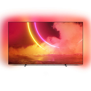 "Philips 65OLED805 Téléviseur OLED 4K Ultra HD 65"" (165 cm) - Dolby Vision/HDR10+ - Wi-Fi/Bluetooth - Android TV - Google Assistant - Son 2.1 50W Dolby Atmos (Dalle native 100 Hz)"