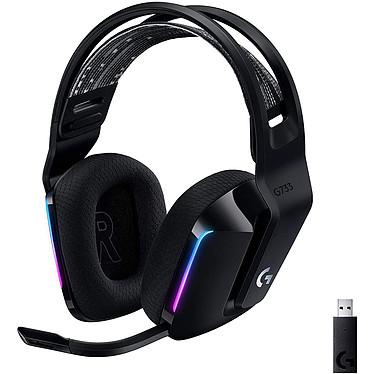 Logitech G733 Lightspeed Black Auriculares Gaming inalámbricos - Circunferencia cerrada - DTS Headphone:X 2.0 - Tecnología inalámbrica Lightspeed - Micrófono unidireccional - Retroiluminación RGB Lightsync