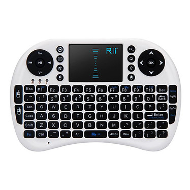 Riitek RII Mini i8 (Blanc) Clavier compact sans fil pour Windows - Mac OS X - Linux - Android - Smart TV - PlayStation 3 et 4 - Xbox 360 et One - Raspberry Pi - Kodi - XBMC - Freebox... - Blanc