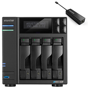ASUSTOR AS6604T + Adaptateur AS-U2.5G