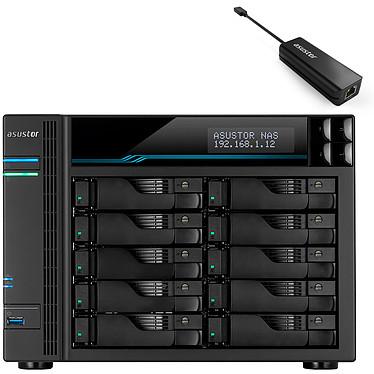 ASUSTORLockerstor 10 Pro (AS7110T) + Adaptateur AS-U2.5G Barebone Serveur NAS 10 baies 8 Go DDR4 Intel Xeon E-2240 - 1x 10 GbE + 3x 2.5 GbE + Adaptateur réseau 2.5 GbE sur port USB Type-C