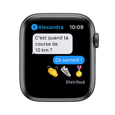 Apple Watch Series 6 GPS Aluminium Space Gray Bracelet Sport Black 44 mm a bajo precio