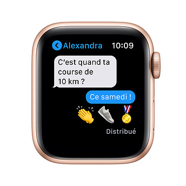 Apple Watch Series 6 GPS Aluminium Gold Bracelet Sport Pink Sand 40 mm pas cher