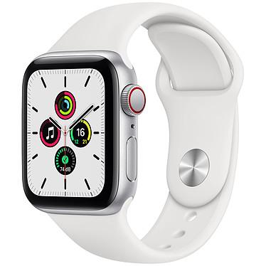 Apple Watch SE GPS + Cellular Silver Aluminium Bracelet Sport White 40 mm