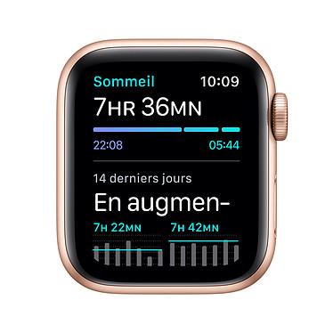 Apple Watch SE GPS + Cellular Gold Aluminium Bracelet Sport Pink Sand 40 mm pas cher