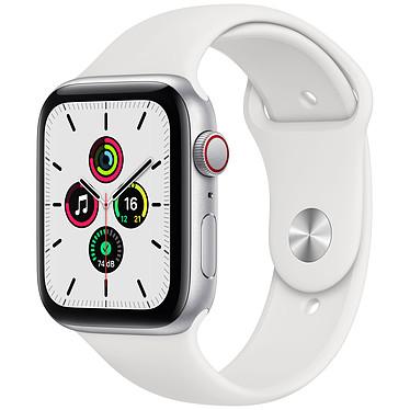 Apple Watch SE GPS + Cellular Silver Aluminium Bracelet Sport White 44 mm Montre connectée - Aluminium - Étanche - GPS - Cardiofréquencemètre - Écran Retina  - Wi-Fi 2,4 GHz / Bluetooth - watchOS 7 - Bracelet Sport 44 mm