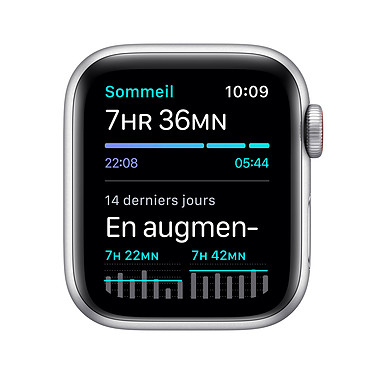 Apple Watch SE GPS + Cellular Silver Aluminium Bracelet Sport White 44 mm pas cher
