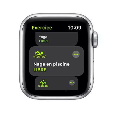 Avis Apple Watch SE GPS + Cellular Silver Aluminium Bracelet Sport White 44 mm
