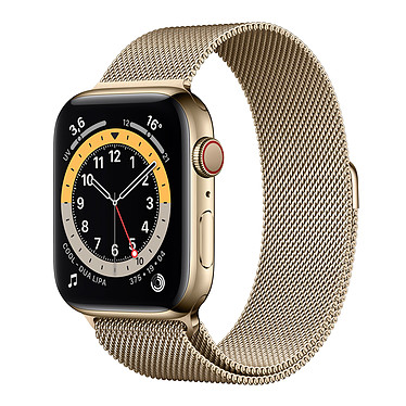 Apple Watch Series 6 GPS + Cellular Stainless steel Gold Bracelet Milanese 44 mm