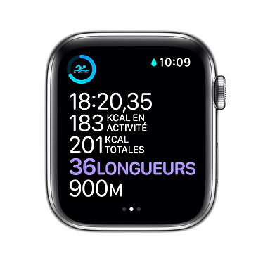 Comprar Apple Watch Series 6 GPS + Cellular Stainless steel Silver Bracelet Sport White 40 mm