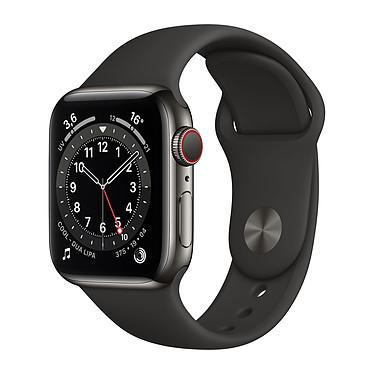 Apple Watch Series 6 GPS + Cellular Stainless steel Graphite Bracelet Sport Black 40 mm