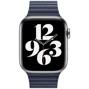 Avis Apple Bracelet Leather Loop 44 mm Diver Blue - Large