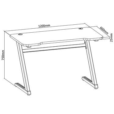 OPLITE Tilt Gaming Desk - Blanc pas cher