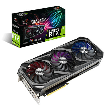 ASUS GeForce ROG STRIX RTX 3090 O24G GAMING 24 Go GDDR6X - Dual HDMI/Tri DisplayPort - PCI Express (NVIDIA GeForce RTX 3090)
